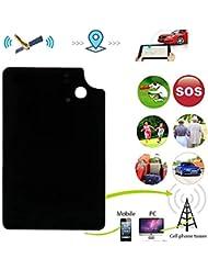 Hangang Mini GPS Tracker Ultra Slim Anti-lost GPS Tracker Real Time Wallet Kids with Free App TK912