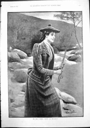 MeerForellen-Fischen, das Ihm Frau Rod 1893 Kolben-Sydneys Cowell Gibt