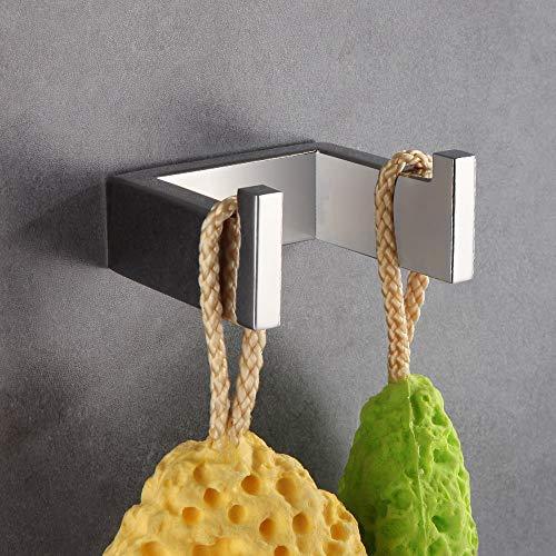 Homovater Wand Handtuchhaken Kleiderhaken Handtuchhalter,Chrom Einfach Cool Aussehen für Toilette aus Edelstahl Amerikanisch Stil