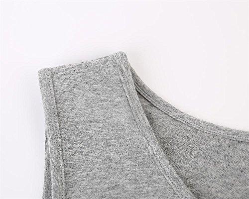 Topwhere® Damen Baumwolle Schwangerschaftsshirt Still-Tank Top Gray