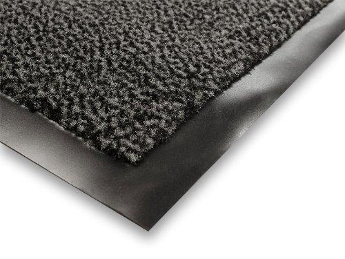 casa pura® Premium Fußmatte / Sauberlaufmatte für Eingangsbereiche | Fußabtreter mit Testnote 1,7 | Schmutzfangmatte in 8 Größen als Türvorleger innen und außen | anthrazit - grau | 60x90cm - 2