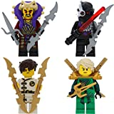 LEGO Ninjago 4er Figurenset Ultimate 18 - Lloyd Jay Chen Nindroid mit GALAXYARMS Waffen Schwerter