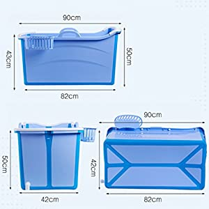 XUANLAN Thick Extra Large Plastic Adult Bathtub, Household Children's Bathtub, Portable Folding Bath Barrel L90 * W42 * H50CM ( Color : A )