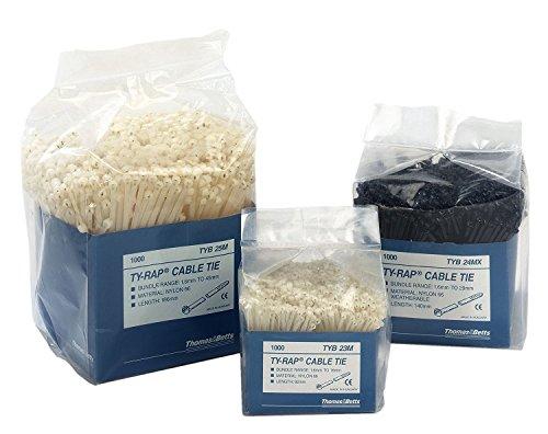 Preisvergleich Produktbild Thomas & Betts ty-rap–Natürliche Kabelbinder 2,4x 92mm Polyamid 6,6