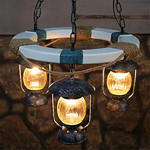 Lightning Ferret- Hotel Mediterranean Cafe lampada ristorante lampadario soggiorno personalizzato moda di legno Arts Club tre
