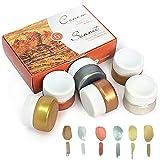 Nevskaya Palitra Gouache Metallic Farbe Set | 6 x 20 ml Näpfchen | Inka Gold, Aztec Gold, Bronze, Kupfer, Silber Licht, Silber Tief | Qualität von Sonnet