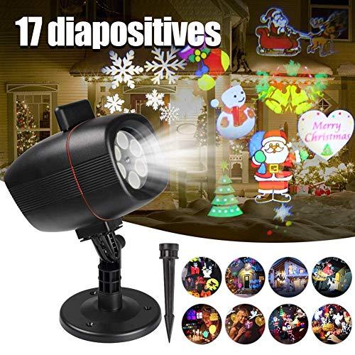Halloween Spezial Effekte - Ydq Projektor-weihnachtsprojektor, Scheinwerfer-weihnachtseffekt-lichtprojektionslampe Innen- Fernbedienung Bunte