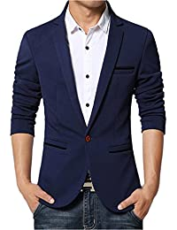 Lukis Herren Slim Fit Sakko Blazer Freizeit Business Jacke