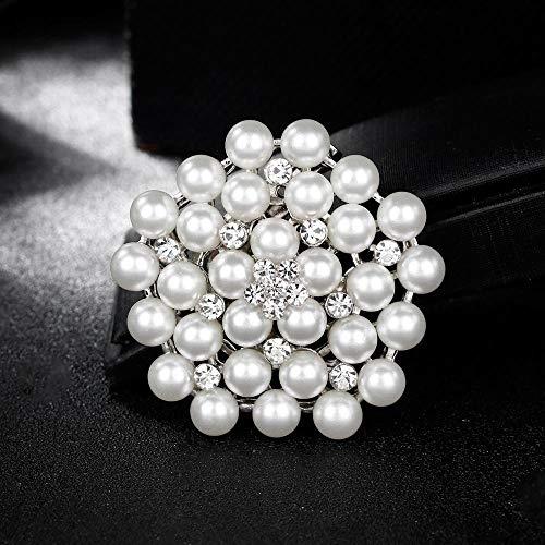 Luziang Broches para Ropa Mujer Hacer Zhu Broche Cristal de Diamante Adornado Vestido de Broche-Adecuado para Todas Las Ocasiones