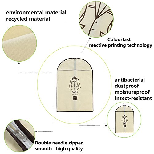 Pack-Of-5-Breathable-Garment-Bag-in-closet-Clothes-Covers-Protector-Storage-for-Suit-Dress