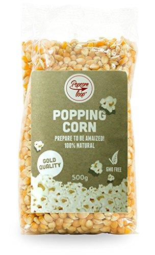 POPCORN-MAIS IN VERSCHIEDENEN GRÖßEN – JETZT WÄHLEN UND SPAREN – Popcornloop-Mais der Qualitätsstufe GOLD, Trocken-Mais für Popcorn, ISO-zertifizierter Anbau und GMO-frei, Popcorn selbst zubereiten