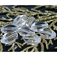 Cristallo ceco Vetro Sfaccettato Fuoco Lucido Oliva Perline 18 mm (Perline Di Cristallo Di Sfaccettatura)
