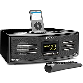 Pure Avanti Flow Digitales Internetradio (DAB/DAB+/Stereo UKW-Tuner, Apple iPod-Dock, USB 2.0, 75 W RMS) schwarz