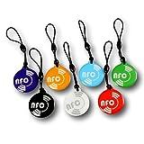 7 X NFC étiquettes rond | Couleurs mélangées | NTAG213 | Design élégant | 144 Octets |...