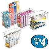 mDesign boîte alimentaire pour le réfrigérateur et le congélateur (lot de 4) -...