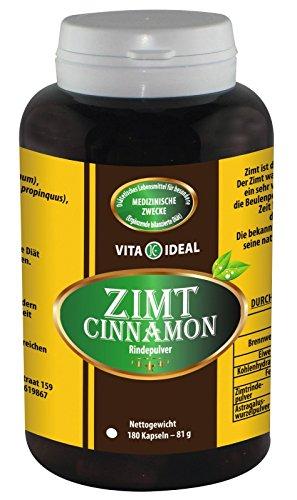 Zimt Rinde (Cinnamon) mit Astragaluswurzel 180 Kapseln je 350mg reines Pulver, ohne Zusatzstoffe