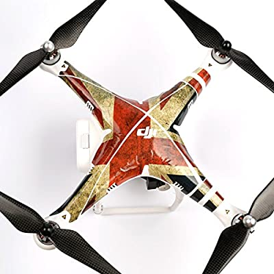Decoration Skin Wrap Sticker Decal Kit for DJI Phantom 2 Vision Quadcopter Upgrade UV Resistant Printing - UK Flag