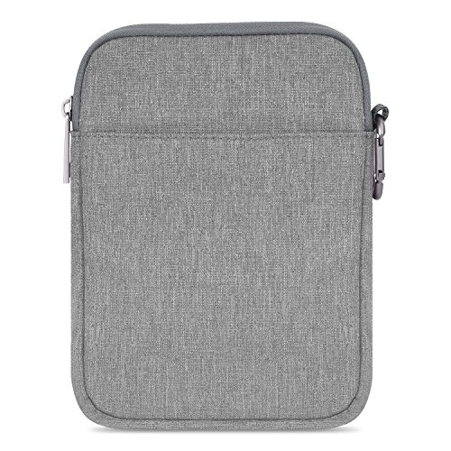 MoKo Kindle Paperwhite/Kindle Voyage Sleeve Hülle - Tragbare Nylon Schutzhülle Tasche für Amazon Kindle Paperwhite/Voyage /6 inch Kindle Oasis/Kindle 8. / HD 6 6 Zoll, Hellgrau