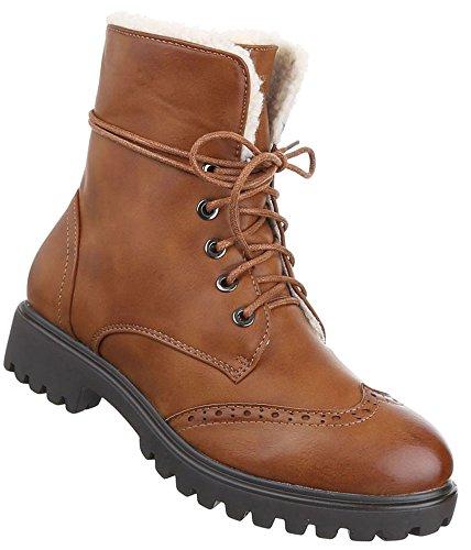 Senhoras Botas Sapatos Schnur Stiefeletten Bege Cinzento Castanho 36 37 38 39 40 41 Camelo