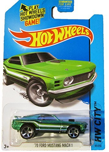 Hot Wheels - 2014 HW City 97/250 - '70 Ford Mustang Mach 1 (green) by Mattel (Ford Mustang 97)