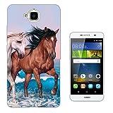002403 - Cute Horses Fun Love Playful Horses Design Huawei