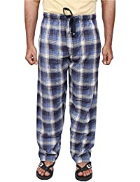 Twist Men's Blue And White Checked 100% Cotton Pyjama Sleepwear Night Wear With Contrast & Free Shipping