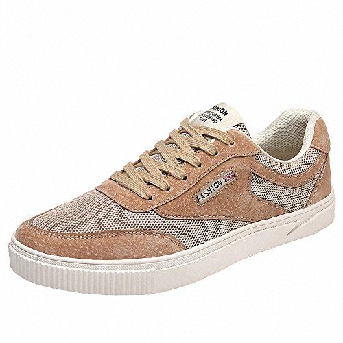Ben Sports Herren Beige Skateboardschuhe Skaterschuhe Skateboard-Schuhe Sportschuhe Sneakers Turnschuhe Schuhe