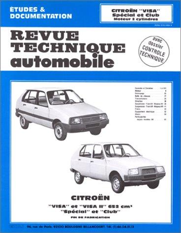 Revue Technique Automobile, CIP 3865 : Citroën Visa et Visa II - Spécial et Club