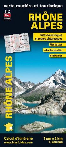 Rhône Alpes, carte régionale, routière et touristique