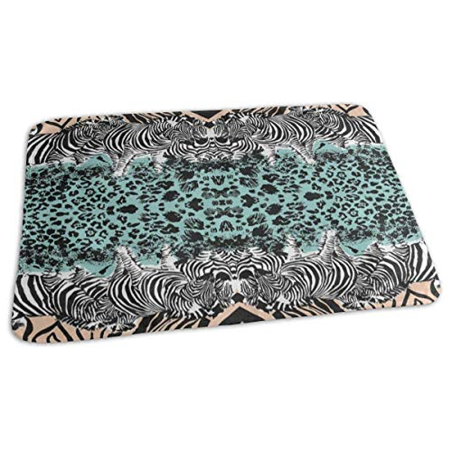 Zebra Leopard Print Baby Diaper Urine Pad Mat Inspiring Girls Bed Wetting Pads Sheet for Any Places for Home Travel Bed Play Stroller Crib Car ()