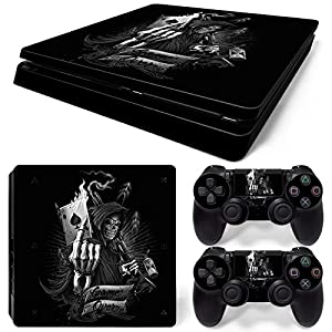 Sony PS4 Playstation 4 Slim Skin Design Foils Aufkleber Schutzfolie Set – Game Over Motiv