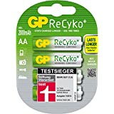 GP Rechargeable Recyko + GP 210AAHCB-2UEC4/AA Blister de 4 Piles rechargeables AA Recyko+ 2000 mAh Vert