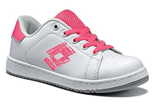 Lotto , Chaussures de tennis pour garçon Weiß (WHITE/PINK FLUO)