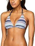 s.Oliver Damen Bikinioberteil Triangel-Top, Mehrfarbig (Blau-Rosé Gemustert 21573), 36 (36A/B)