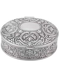 675f911eeaf0 Nosii Caja de joyero de aleación de Zinc Tallada con Forma de Flor  Almacenamiento de Joyas