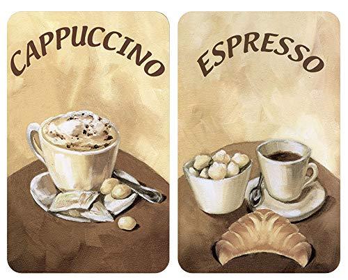 Wenko Herdabdeckplatte Universal Kaffee