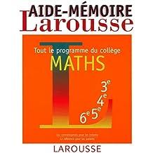 Aide-mémoire, maths