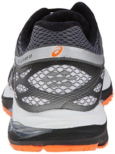 Asics Gel-Cumulus 17 Synthétique Chaussure de Course White-Silver-Hot Orange