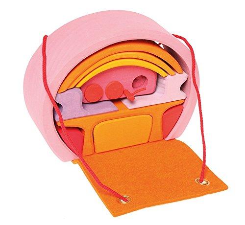 Grimms Spiel Und Holz Design Grimms Bauhaus rosa-orange