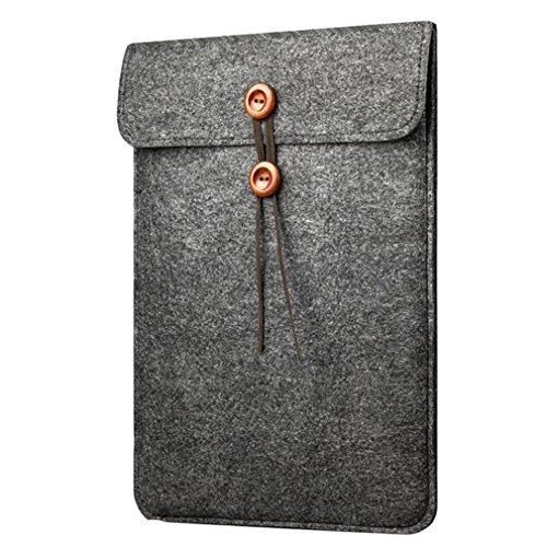 13 Pouces Feutre de Laine House pour Sacoche MacBook Air /MacBook Pro /Retina Ordinateur PC Portable Noir