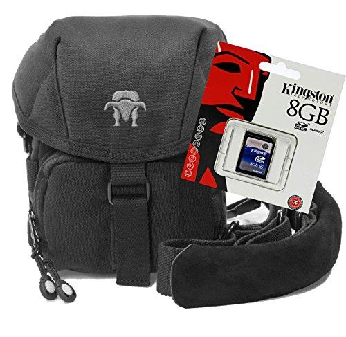 Progallio Spar-Set - professionelle Foto-Tasche Kameratasche Typ Southbull Camp S black im Set mit 8 GB SD Speicherkarte