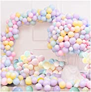 100pcs Pastel Latex Balloons 10'' Macaron Candy Color Rainbow Party Balloons for Birthday Wedding Chri