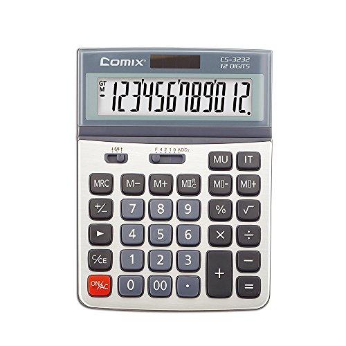 Comix Standardfunktion, Schreibtisch Taschenrechner, Doppelte Energieversorgung, einstellbarer Displaywinkel, CS-3232