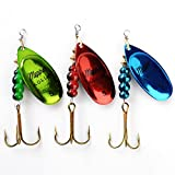 Best Fishing Spoons - Generic Green Size 5 : 1PC 3 Color Review