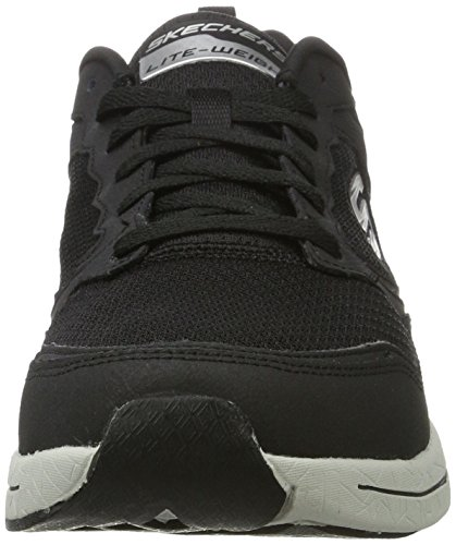 Skechers Qtr Overlay Lace Up Wforwardslashair-Coo, Scarpe Sportive Outdoor Uomo Nero (bkgy)