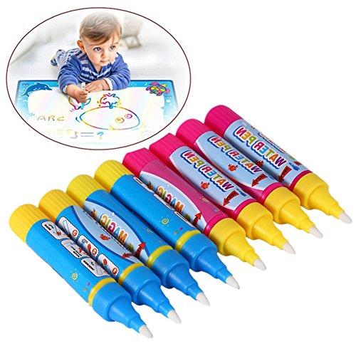 Acogedor Zauberstifte,Magic Pens 8 Teile/Satz Wasser Zeichnung Spielzeug Kind Malerei Schreibmatte Magic Pen Doodle Spielwerkzeug,umweltfreundlich und sicher (Wasser Teilen)