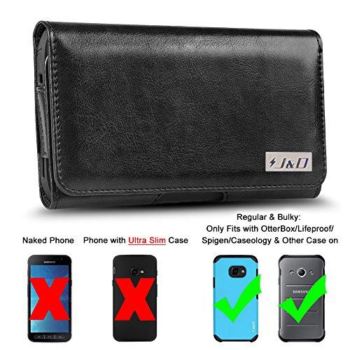 J&D Kompatibel für Galaxy S8 Active/Galaxy Xcover 4 Holster, PU-Leder Holster Handytasche mit Gürtelclip, Ausweishülle aus Leder für Samsung Galaxy Xcover 4 -Geeignet für Handy in einer robusten Hülle (Active 4 Samsung Tasche Handy Für)