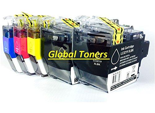 Preisvergleich Produktbild Global Toner kompatibel lc-3219X L Schwarz Tintenpatrone für Brother mfc-j5330dw, mfc-j5335dw, mfc-j5730dw, mfc-j5930dw, mfc-j6530dw, mfc-j6930dw, mfc-j6935dw 1 Set & Extra Black High Capacity Black/Cyan/Magenta/Yellow