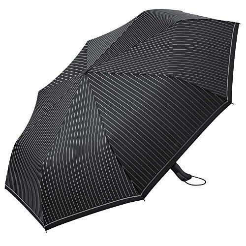 PLEMO Ombrello Pieghevole a Righe Classiche, Apri e Chiudi Automaticamente, Impermeabile 210T, 8 Stecche, Diametro 104cm