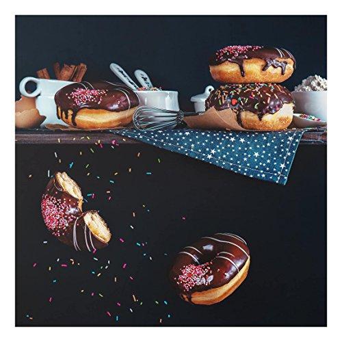 Bilderwelten Panel antisalpicaduras de cristal - Donuts From The Top Shelf - Cuadrado 1:1, panel antisalpicaduras panel de vidrio para cocina panel protector contra salpicaduras, Tamaño: 59cm x 60cm